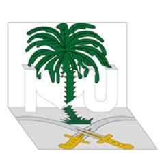 Emblem Of Saudi Arabia  I Love You 3d Greeting Card (7x5) by abbeyz71