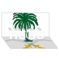 Emblem Of Saudi Arabia  Hugs 3d Greeting Card (8x4) by abbeyz71
