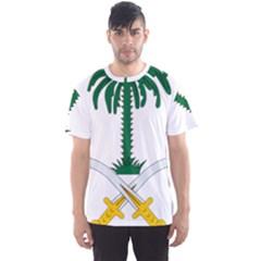 Emblem Of Saudi Arabia  Men s Sport Mesh Tee