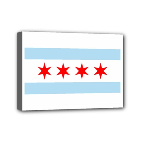 Flag Of Chicago Mini Canvas 7  X 5
