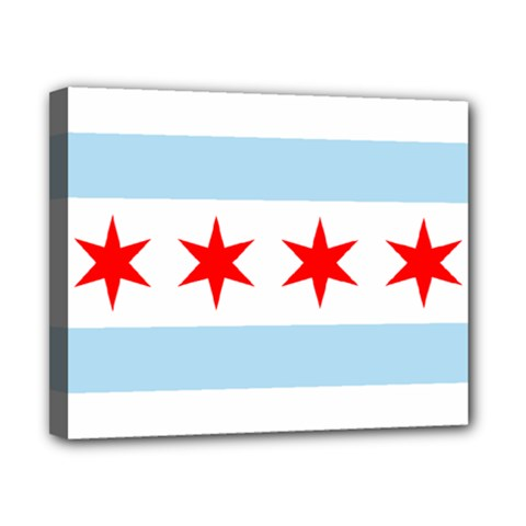 Flag Of Chicago Canvas 10  X 8