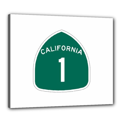 California 1 State Highway   Pch Canvas 24  X 20  by abbeyz71