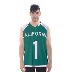 California 1 State Highway   Pch Men s Basketball Tank Top by abbeyz71