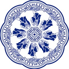 Seal Of Yonkers, New York  Folding Umbrellas