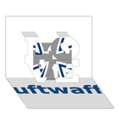 Luftwaffe Love 3d Greeting Card (7x5)