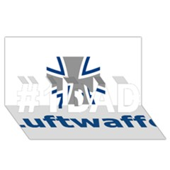 Luftwaffe #1 Dad 3d Greeting Card (8x4)