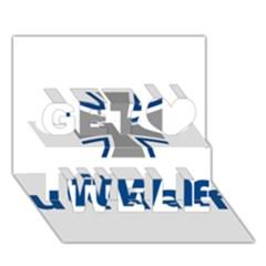 Luftwaffe Get Well 3d Greeting Card (7x5)
