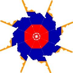 Flag Map Of Armenia  Golf Umbrellas