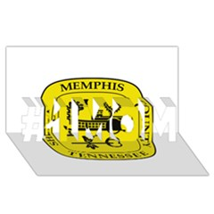 Seal Of Memphis  #1 Mom 3d Greeting Cards (8x4) by abbeyz71