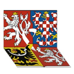 Coat Of Arms Of The Czech Republic Ribbon 3d Greeting Card (7x5) by abbeyz71