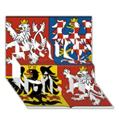 Coat Of Arms Of The Czech Republic You Did It 3d Greeting Card (7x5)