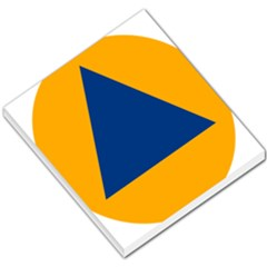 International Sign Of Civil Defense Roundel Small Memo Pads by abbeyz71