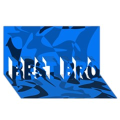 Blue Pattern Best Bro 3d Greeting Card (8x4) by Valentinaart