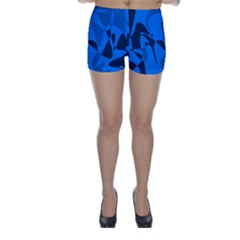 Blue Pattern Skinny Shorts by Valentinaart