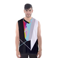 Colorful abstraction Men s Basketball Tank Top by Valentinaart