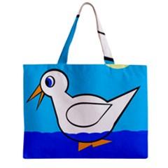 White Duck Zipper Mini Tote Bag by Valentinaart