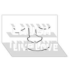 Sleeping Face Laugh Live Love 3d Greeting Card (8x4) by Valentinaart