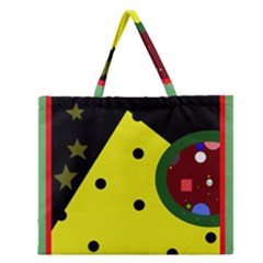 Abstract Design Zipper Large Tote Bag by Valentinaart