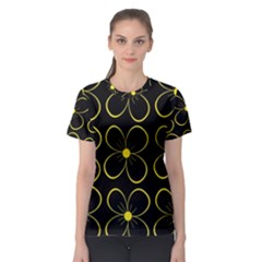 Yellow Flowers Women s Sport Mesh Tee by Valentinaart