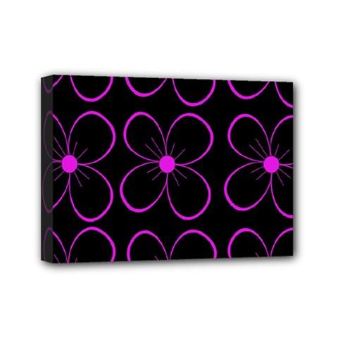 Purple Floral Pattern Mini Canvas 7  X 5  by Valentinaart