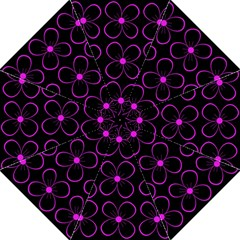 Purple Floral Pattern Folding Umbrellas by Valentinaart