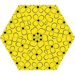 Yellow Floral Pattern Mini Folding Umbrellas by Valentinaart