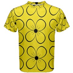 Yellow floral pattern Men s Cotton Tee