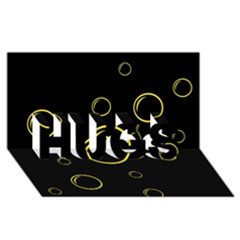Yellow Bubbles Hugs 3d Greeting Card (8x4)