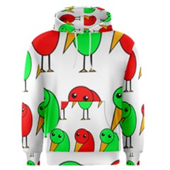Green And Red Birds Men s Pullover Hoodie by Valentinaart