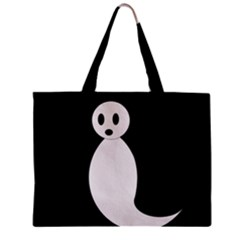 Ghost Zipper Mini Tote Bag by Valentinaart