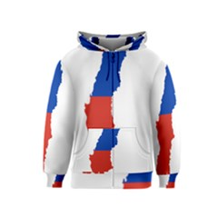 Flag Map Of Chile  Kids  Zipper Hoodie by abbeyz71