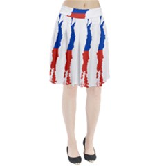 Flag Map Of Chile  Pleated Skirt