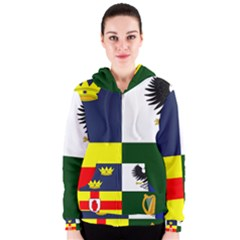 Four Provinces Flag Of Ireland Women s Zipper Hoodie