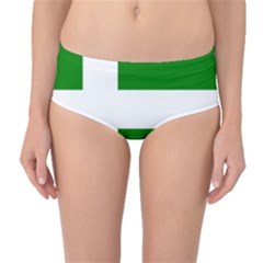 Flag Of Puerto Rican Independence Party Mid Waist Bikini Bottoms