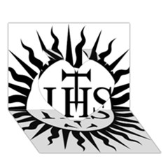 Society Of Jesus Logo (jesuits) Heart 3d Greeting Card (7x5) by abbeyz71