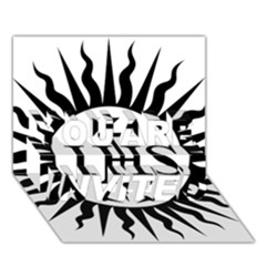 Society Of Jesus Logo (jesuits) YOU ARE INVITED 3D Greeting Card (7x5)