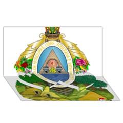Coat Of Arms Of Honduras Twin Heart Bottom 3d Greeting Card (8x4) by abbeyz71