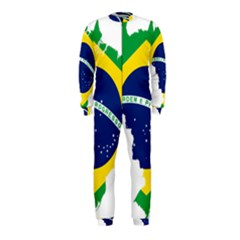 Flag Map Of Brazil  Onepiece Jumpsuit (kids)