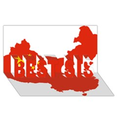 Flag Map Of China Best Sis 3d Greeting Card (8x4) by abbeyz71