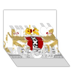 Amsterdam Coat Of Arms  Miss You 3d Greeting Card (7x5) by abbeyz71