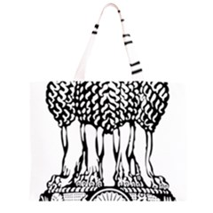 Emblem Of India Large Tote Bag by abbeyz71