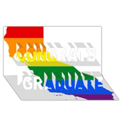 Lgbt Flag Map Of California Congrats Graduate 3D Greeting Card (8x4) by abbeyz71