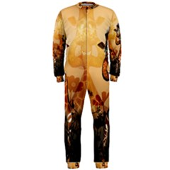 Funny, Cute Giraffe With Sunglasses And Flowers Onepiece Jumpsuit (men)  by FantasyWorld7