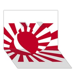 Ensign Of The Imperial Japanese Navy And The Japan Maritime Self Defense Force Heart 3d Greeting Card (7x5)