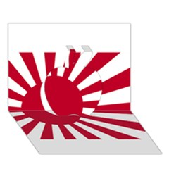 Ensign Of The Imperial Japanese Navy And The Japan Maritime Self Defense Force Apple 3d Greeting Card (7x5)
