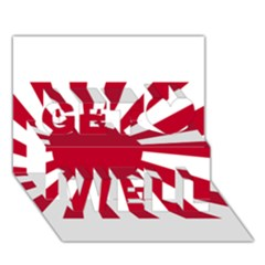 Ensign Of The Imperial Japanese Navy And The Japan Maritime Self Defense Force Get Well 3d Greeting Card (7x5)