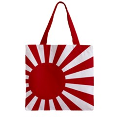 Ensign Of The Imperial Japanese Navy And The Japan Maritime Self Defense Force Zipper Grocery Tote Bag