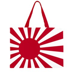 Ensign Of The Imperial Japanese Navy And The Japan Maritime Self Defense Force Zipper Large Tote Bag