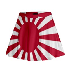 Ensign Of The Imperial Japanese Navy And The Japan Maritime Self Defense Force Mini Flare Skirt