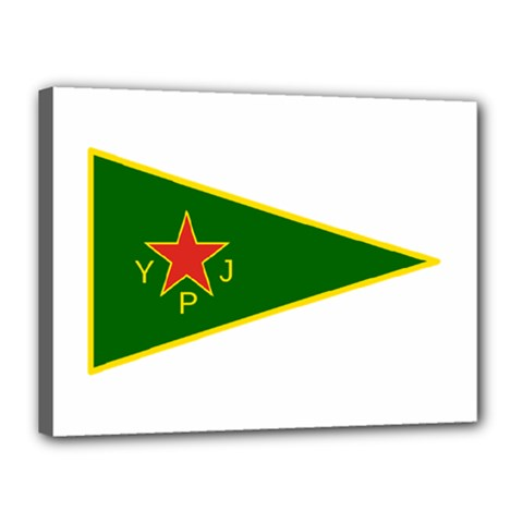 Flag Of The Women s Protection Units Canvas 16  X 12  by abbeyz71